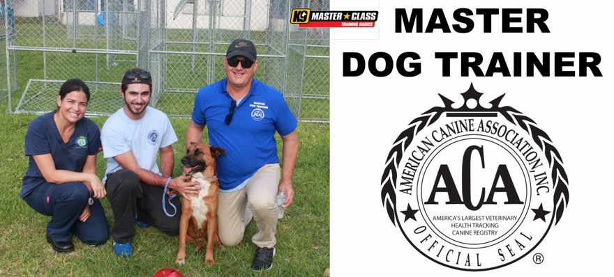 ACA News - ACA Master Dog Trainer Certification In